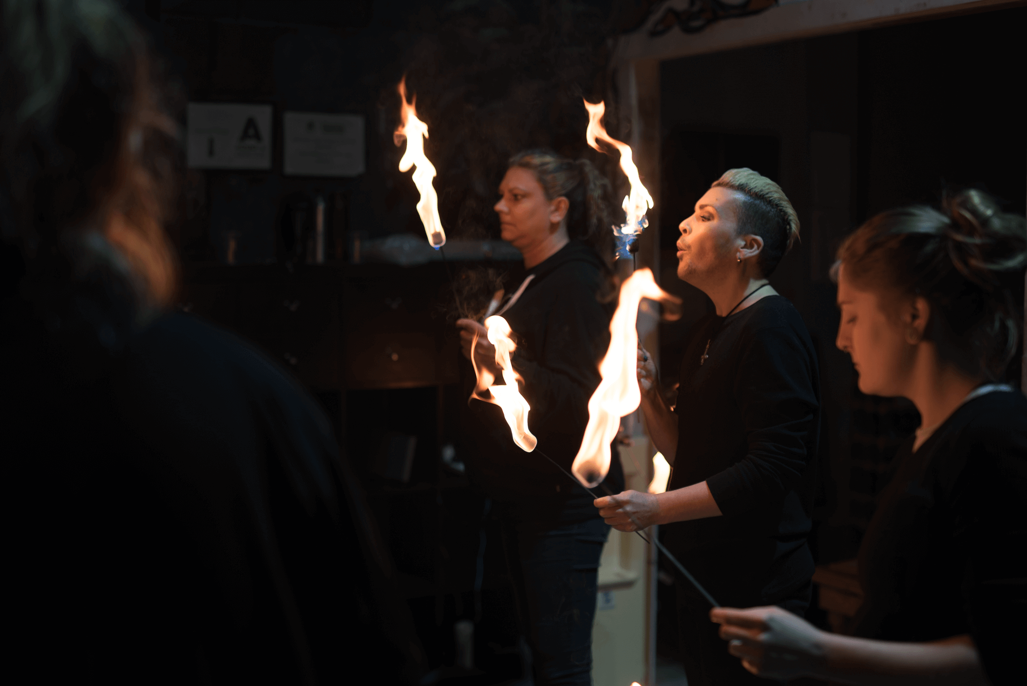 masterclass in fire performance, fire eating