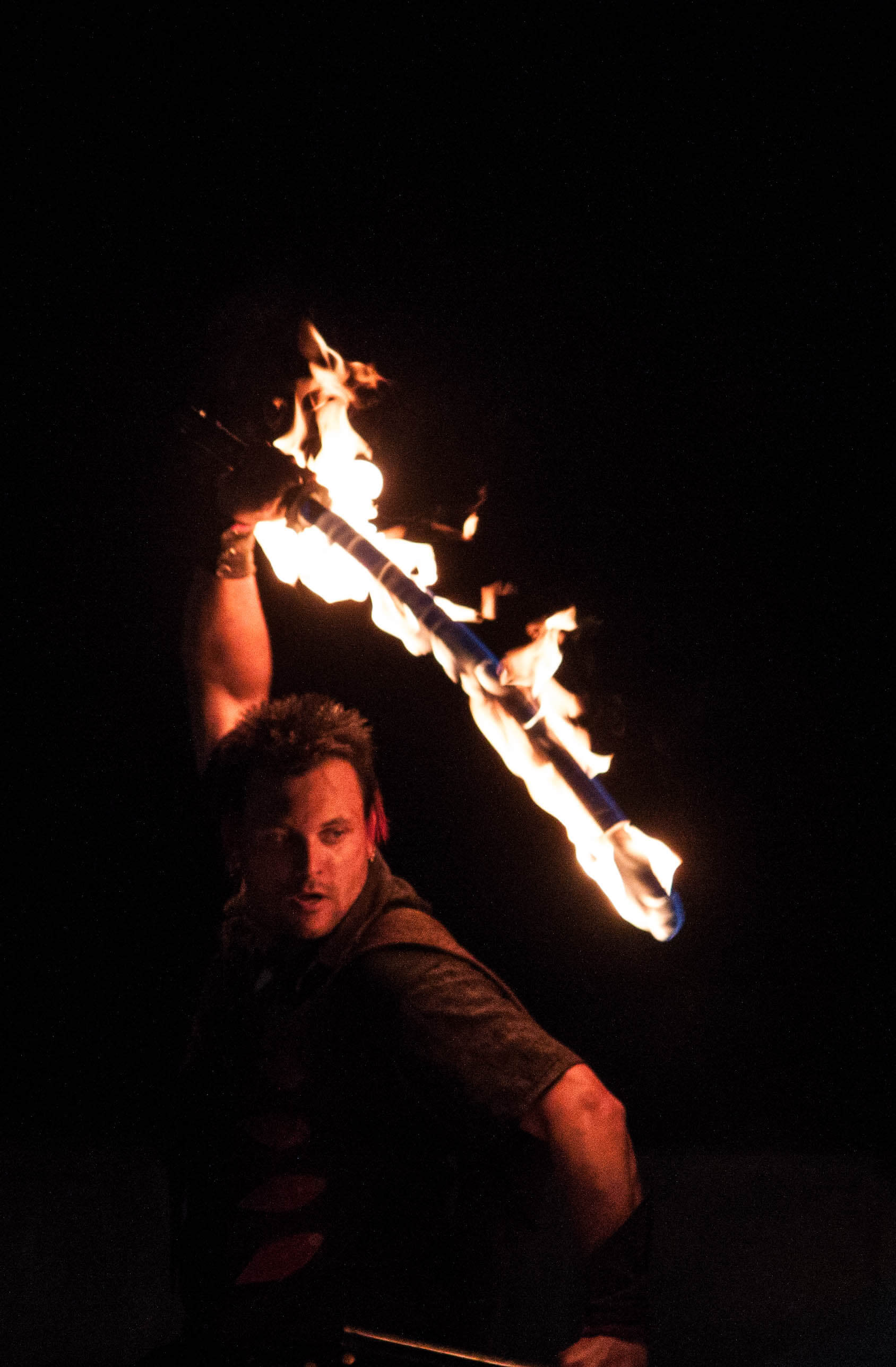 fire katana stage performance, book now