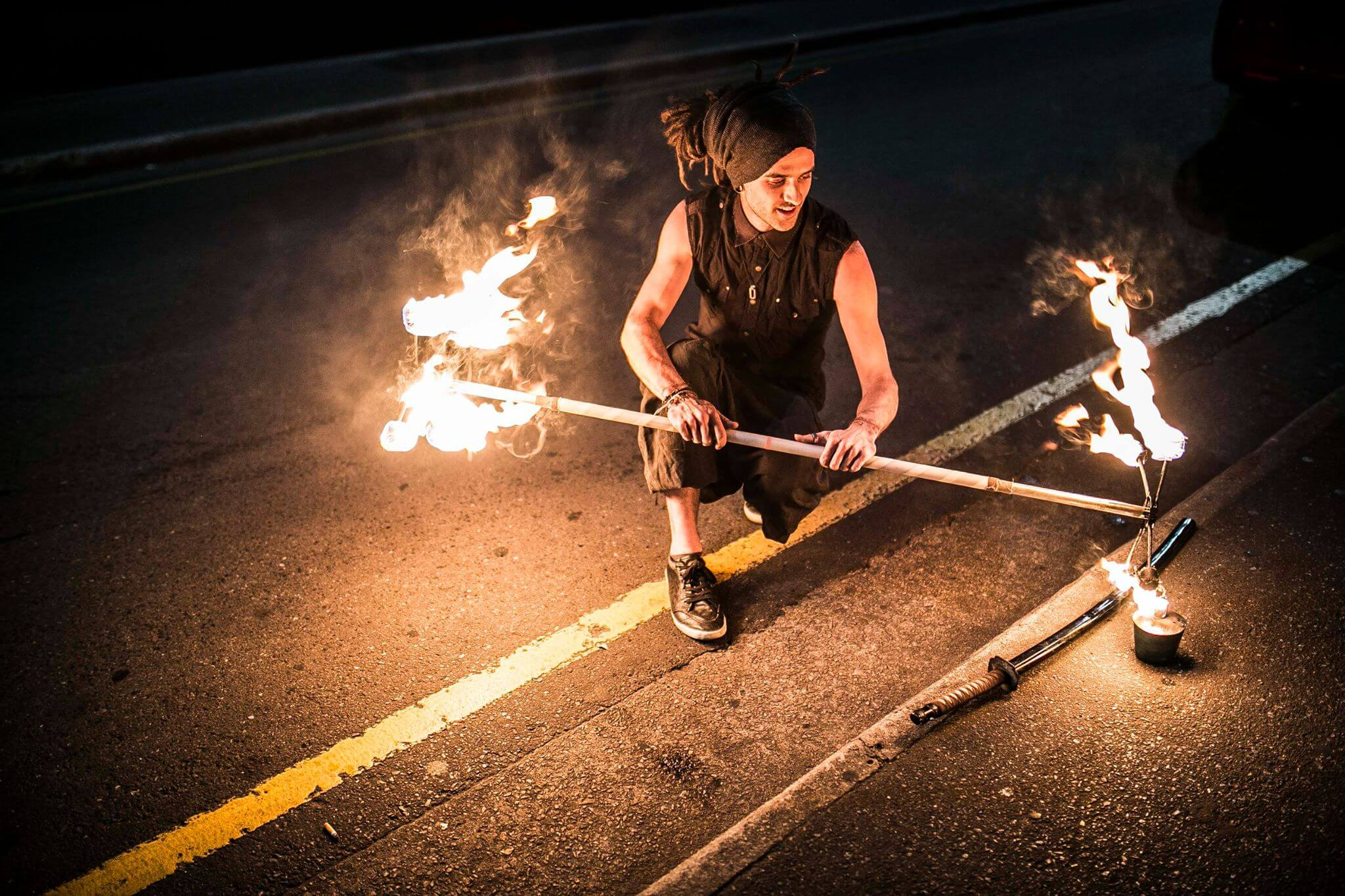 fire dancing - Dragon Staff - Fire safety