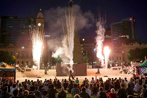 Square Fire - Adelaide's Free Fire Show