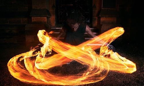 learn fire spinning - Fire Poi