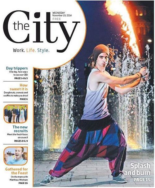 Adelaide City Mag - Square Fire - Fire Sword