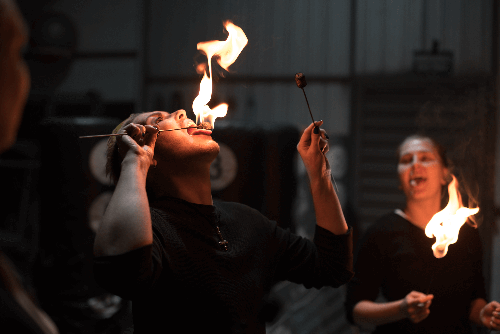master fire eating class