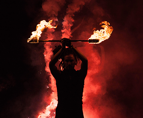 square fire 2016 performance, chain staff, Timmehtek