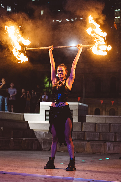 Empyre 2020 Fire Festival, Victoria Square Adelaide, photo by Nick Astanei
