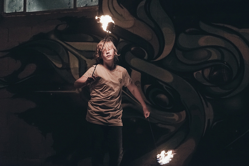 fire poi jam - Dragon Mill - School of Fire Art