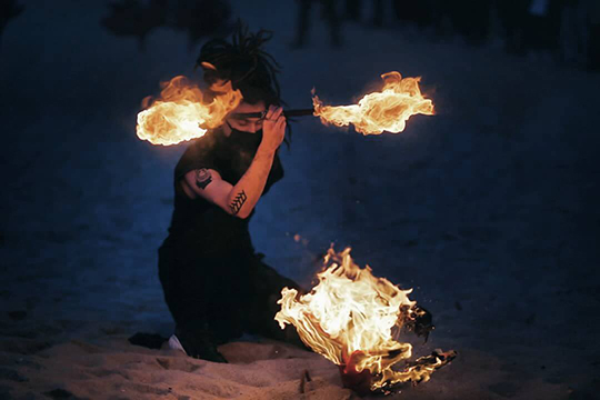 A song of Fire Pyeongchang Winter Olympic Cultural Event - Fire Art Festa - Gyeongpo, South Korea, Gangneung