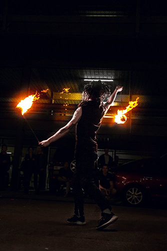 Flaming Poi Fire Entertainment at The Market Shed on Holland Fire Performance, Fire Dancing at Twilight market Suzanne Elliot Photography
