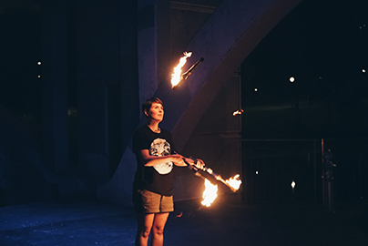 Lucy - Juggling Instructor at Dragon Mill- Local Fire Jam