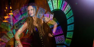 LED Poi Performance by Kat Clarke