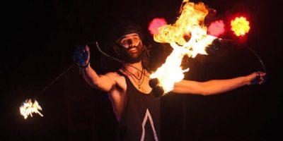 Fire poi performance by Timmehtek at Minsk Fire Festival 2015